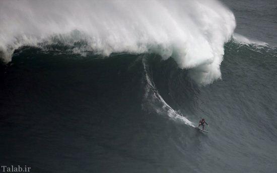 عکس های هیجانی از موج سواری روی امواج غول پیکر