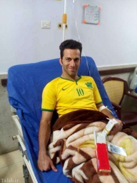 نجات جان بازیکن توسط داور ایرانی + عکس