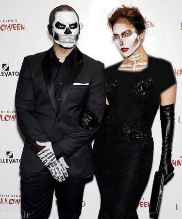 عکس های گریم ترسناک جنیفر لوپز در هالووین
