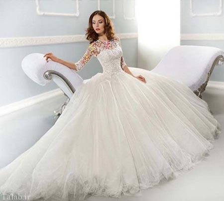 مدل های جدید و زیبای لباس عروس پاییز
