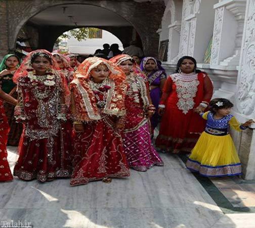 جشن عروسی برای زوج های فقیر + عکس