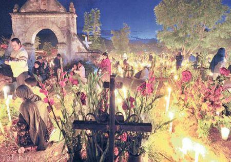 تصاویر دیدنی و جالب جشن مردگان در نیومکزیکو