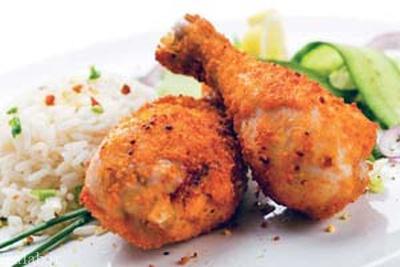 مرغ سوخاری لذیذ با جوز هندی