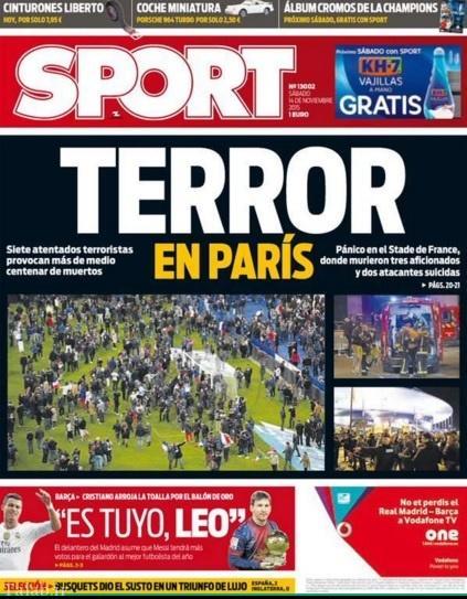واکنش روزنامه های بزرگ به حادثه دردناک پاریس