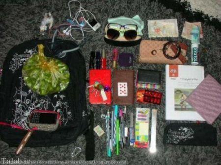 تصاویر خنده دار از داخل کیف دخترها