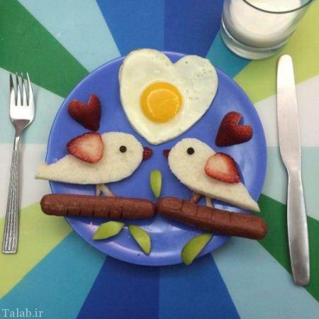 تصاویر تزیینات جالب بشقاب صبحانه