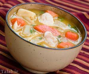 تهیه سوپ جوجه با ذرت