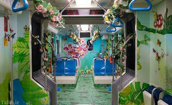 اینجا مترو است یا پارک تفریحی؟ (عکس)