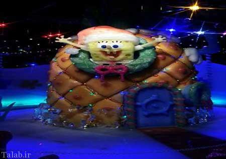 مجسمه های یخی باب اسفنجی در چین
