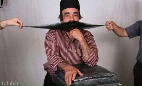 مرد ایرانی با درازترین سبیل دنیا + عکس