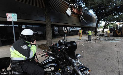 سقوط باورنکردنی یک زن با خودرو از طبقات پارکینگ (عکس)