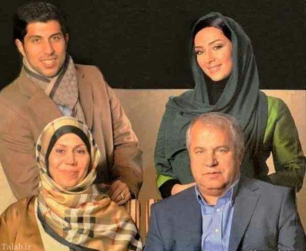 عکس علی پروین در کنار همسر و پسرش