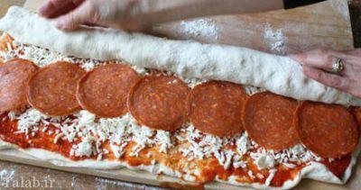 طرز تهیه پیتزا آب نباتی شکل
