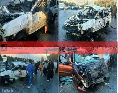 متخصص قلب در تصادف پراید کشته شد + عکس