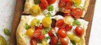 تهیه مینی پیتزا گوجه فرنگی و ریحان