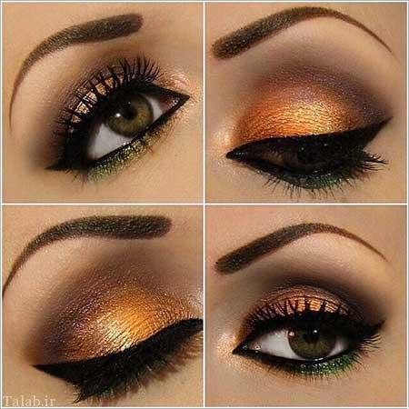 آرایش جذاب و زیبای چشم سری جدید