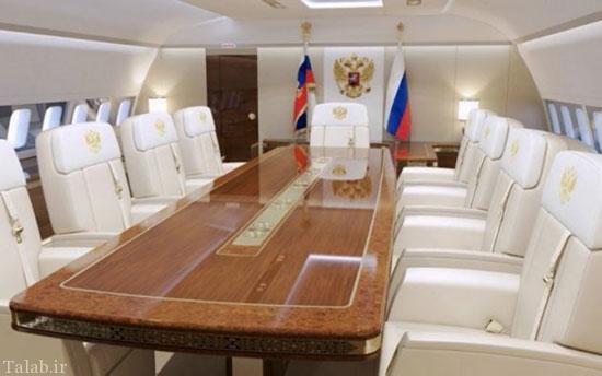 امکانات رویایی و بی نظیر هواپیمای پوتین (عکس)