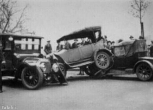 نخستین تصادف ثبت شده جهان (+عکس)