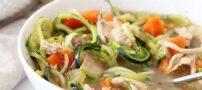 سوپ کم کالری مرغ و کدو برای رژیمی ها