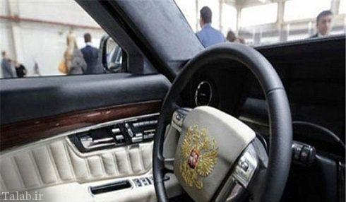 خودروی عجیب زرهی پوتین در سفر به ایران (عکس)