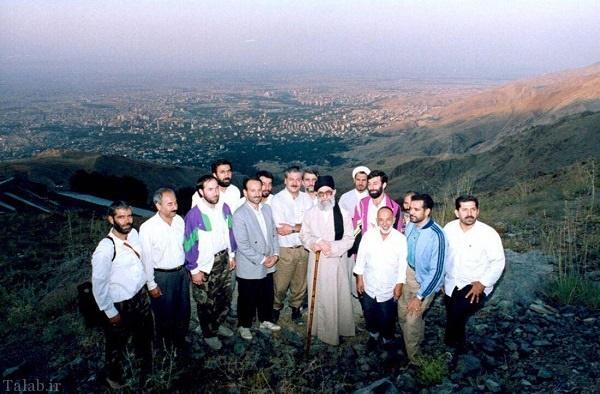 عکس جالب از کوهنوردی مقام معظم رهبری