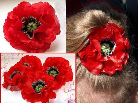 آموزش تصویری ساخت گل با پارچه