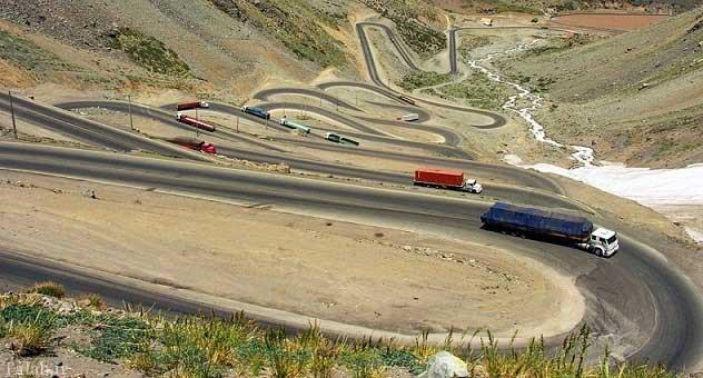 مسیر مارپیچ بین شیلی و آرژانتین + عکس