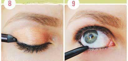 آموزش آرایش طلایی به همراه عکس