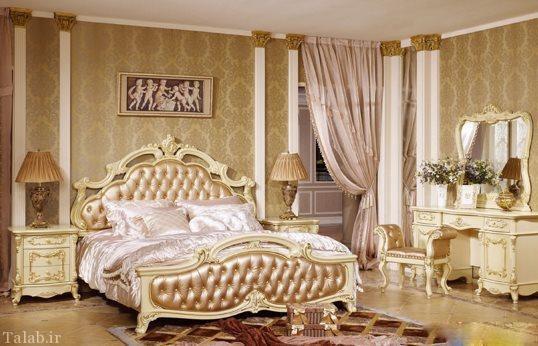 مدل تخت خواب جدید اشرافی و سلطنتی