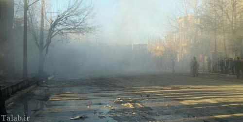 تصاویری از آتش سوزی عظیم در شهر ارومیه