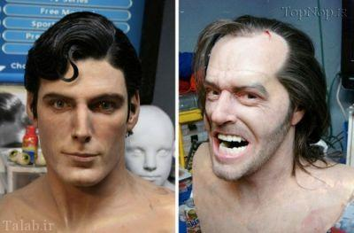 ساخت مجسمه های طبیعی از چهره های مشاهیر