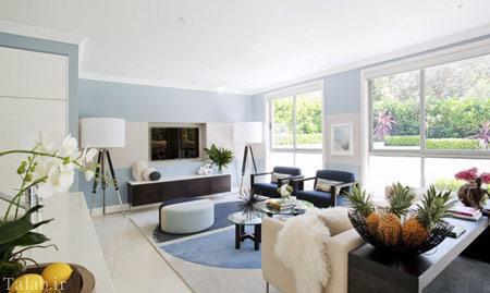دکوراسیون زیبای منزل به رنگ های آبی و صورتی (رنگ سال)