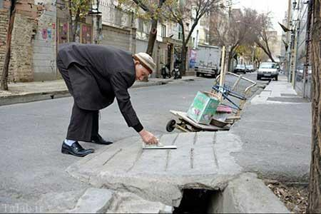 اقدام زیبای پیرمرد ایرانی، ساخت پل رایگان (عکس)