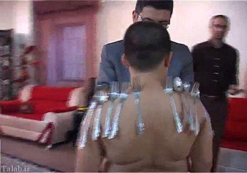 پسر اهل قزوین که بدن آهنربایی دارد (عکس)