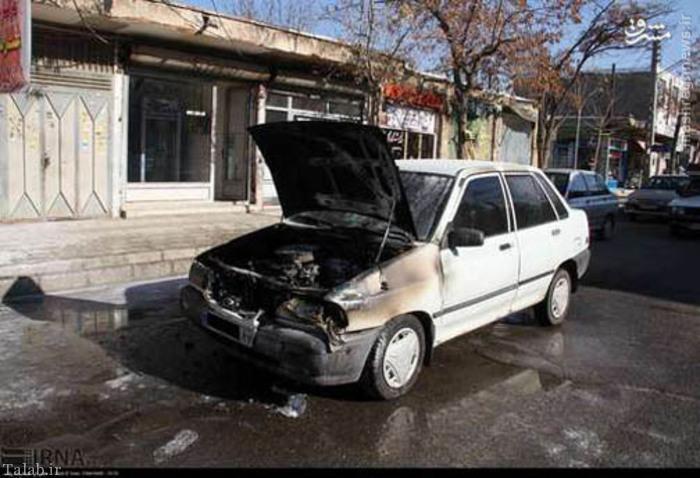 انفجار عجیب پراید در زنجان + تصاویر