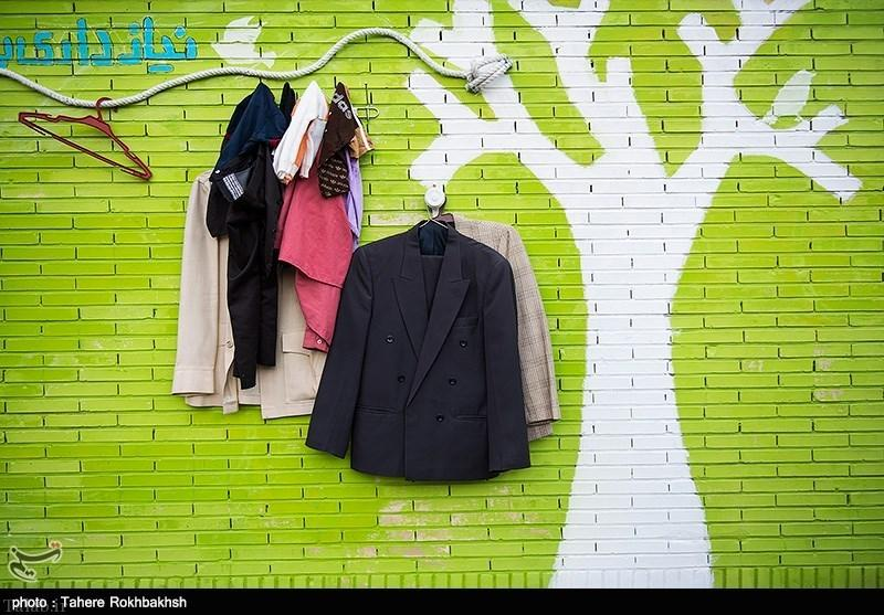 دیوار مهربانی، طرحی انسان دوستانه و زیبا در شیراز (عکس)
