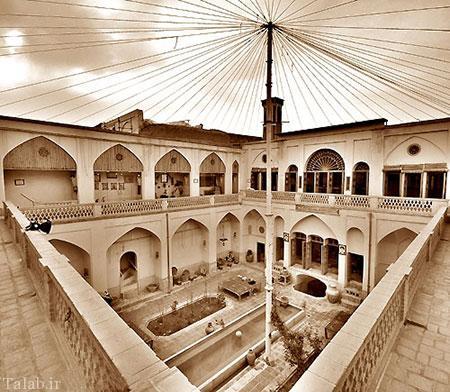 خانه تاریخی و زیبای تاج در کاشان + عکس