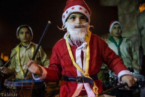 تصاویر دیدنی از کریسمس مردم جنگ زده سوریه