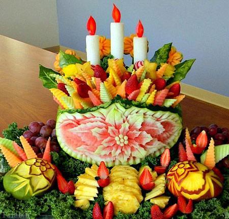 مدل تزیینات زیبا و دیدنی میوه ها برای شب یلدا