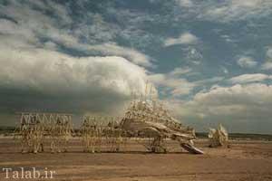 اسکلت های خلاقانه متحرک در باد (عکس)