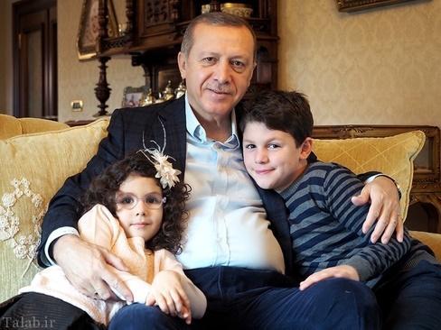خوشگذرانی اردوغان و خانواده در ویلای شخصی (عکس)