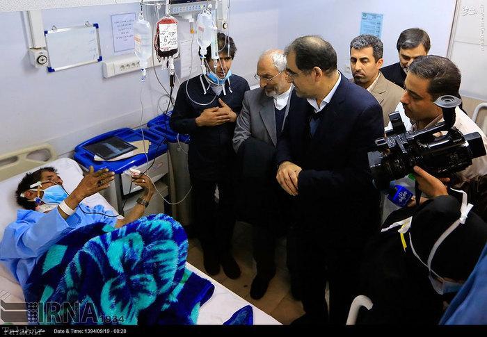 تصاویر عیادت وزیر بهداشت از مبتلایان به آنفلوآنزا