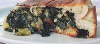 طرز تهیه پیتزا شکم پر با پنیر فونتینا