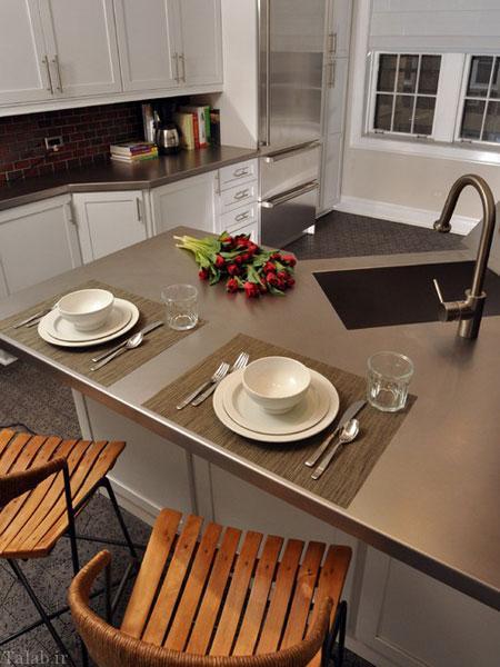 دکوراسیون آشپزخانه با استفاده از سنگ های قیمتی