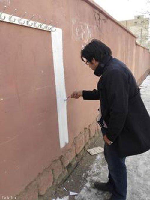 برپایی دیوار مهربانی در الیگودرز + تصاویر