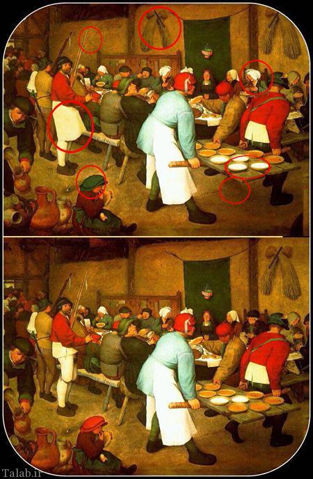 تفاوت های دو عکس را بیابید (تست هوش)