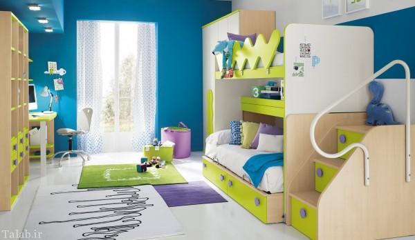 رنگ بندی متنوع و زیبا برای اتاق کودک