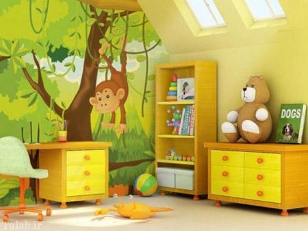 مدل های فانتزی و زیبای کاغذ دیواری برای اتاق کودک
