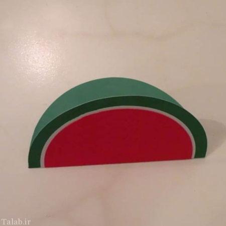 کاردستی کارت تبریک هندوانه ای برای شب یلدا