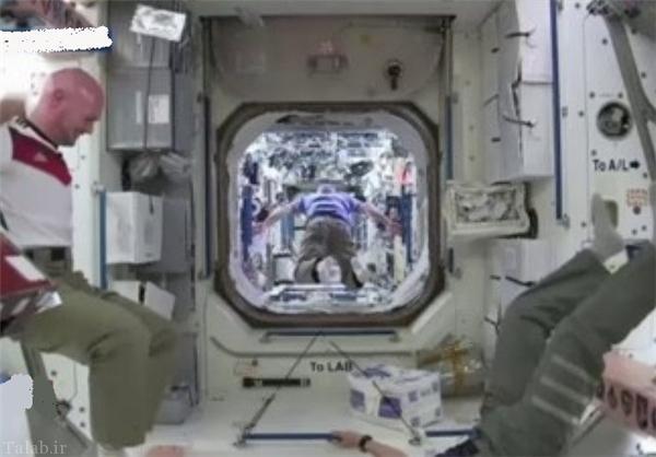 تصاویری جالب از مسابقه فوتبال فضانوردان در فضاپیما